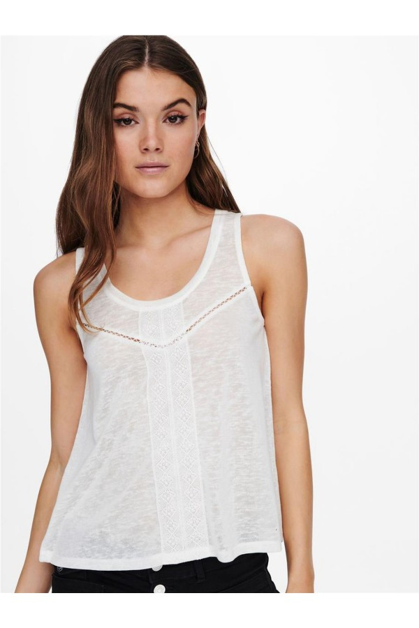 Top Mujer ONLY Blanco 15231198 ONLALLY