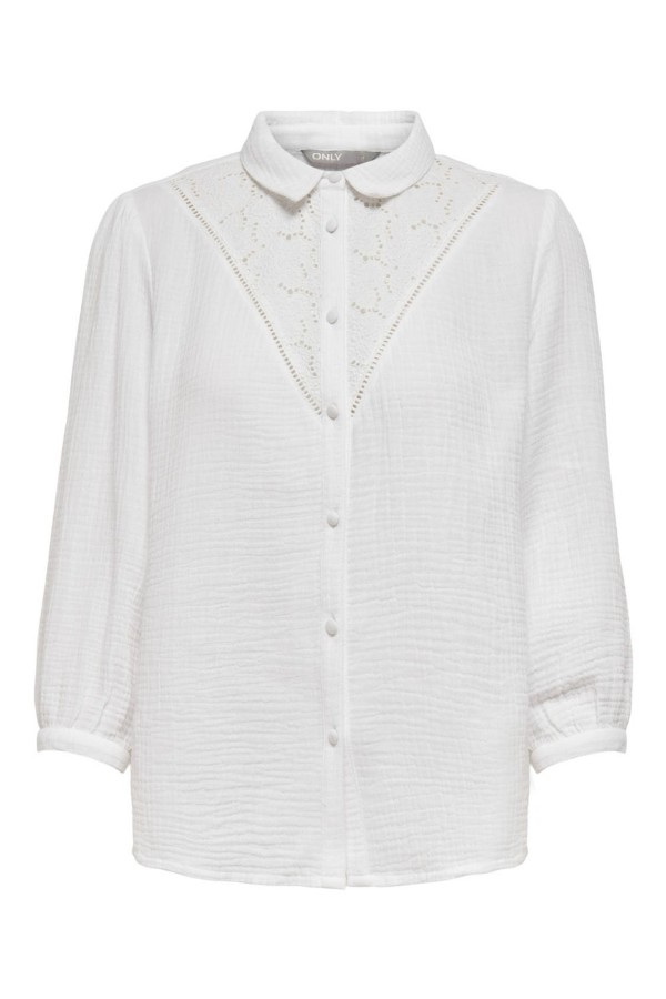 CAMISA MUJER ONLY BLANCA 15246262...